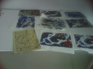 Students creating mono prints again